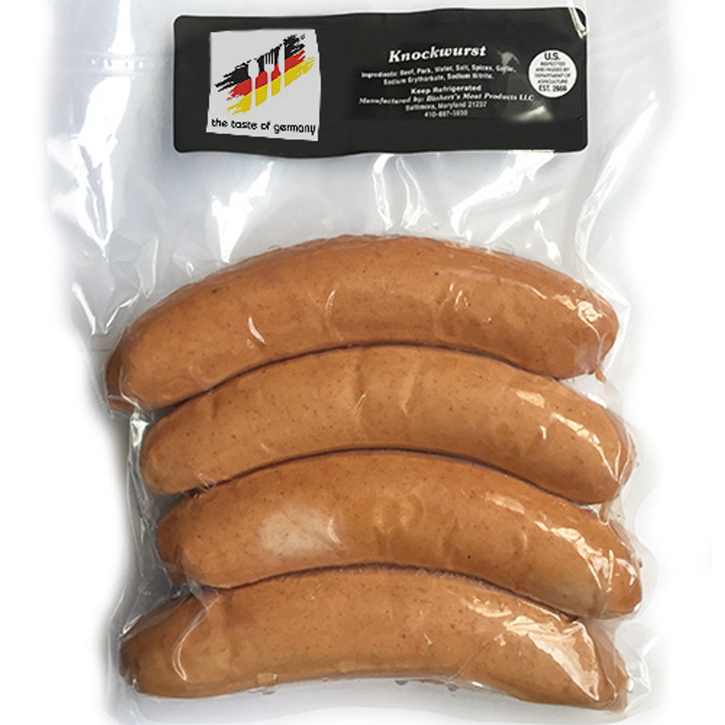 The Taste of Germany Knackwurst (Crunchy Beef and Pork Sausages) 1lbs.