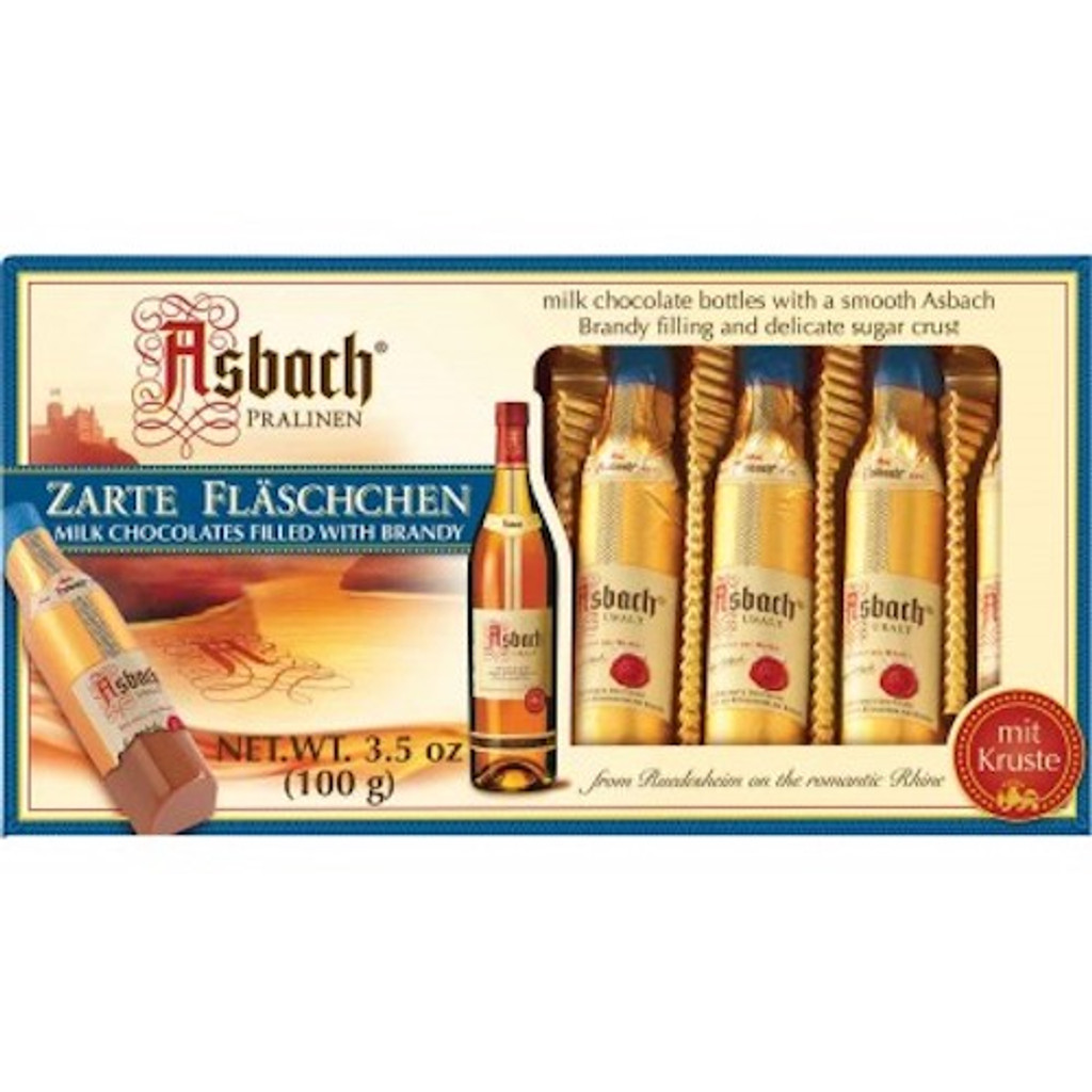 Asbach Milk Chocolate Bottles with Brandy in Gift Box 8 pieces 4.4 oz