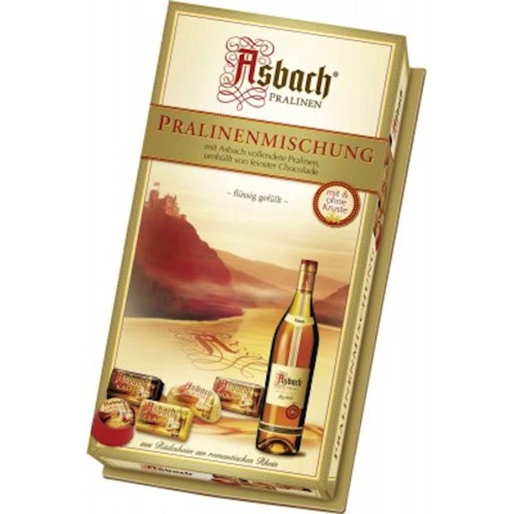 Asbach Chocolate Praline Assortment with Brandy in Gift Box 4.4 oz