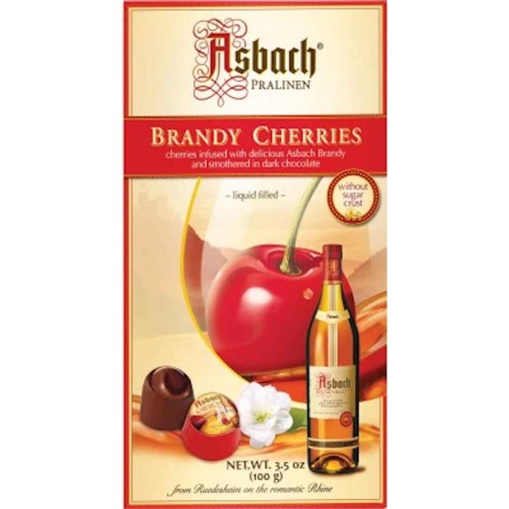 Asbach Dark Chocolate Brandy Pralines with Cherry Small Gift Box 3.5 oz
