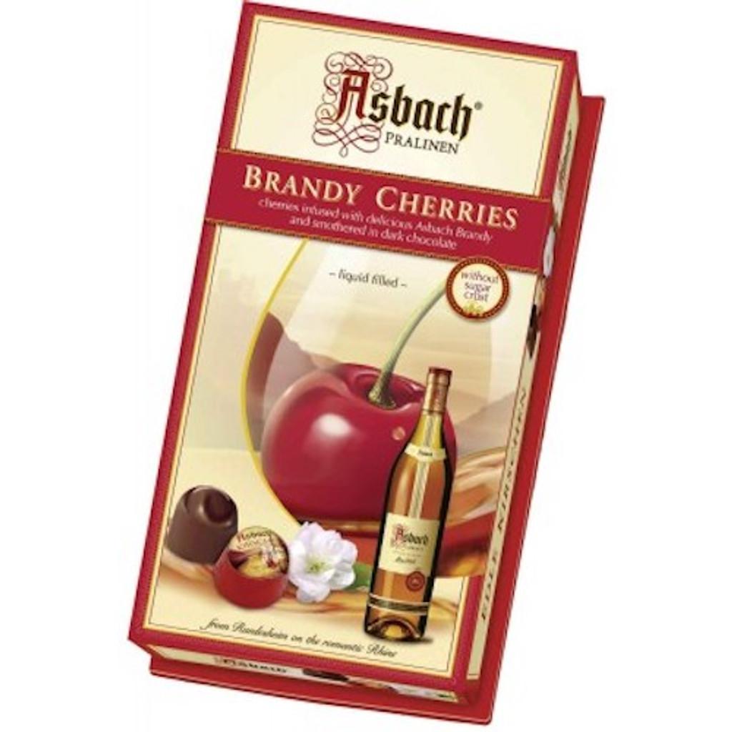 Asbach Dark Chocolate Brandy  Pralines with Cherry Large Gift Box 7.1 oz