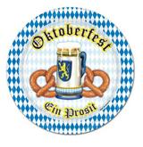 "Oktoberfest Beer and Pretzel Plate 7"" (8/pkg)"