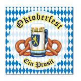 Oktoberfest Beer and Pretzel Beverage Napkin 2ply (16/pkg)