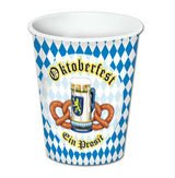 Oktoberfest Beverage Cups 9 oz hot and cold use (8/pkg)
