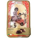 Vergani Milk Chocolate Pralines with Hazelnut Filling in Antique Gift Tin