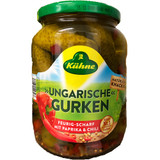 Kuehne Spicy Hungarian Paprika and Chili Gherkins