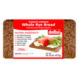 Delba Traditional German Whole Rye Grain Bread 16.5 oz