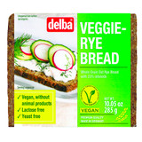 Delba Veggie Whole Rye Bread, Vegan, 10.0 oz