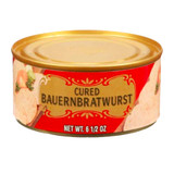 "Geiers ""Farmers"" Bratwurst  in Tin 6.5 oz."