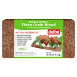 Delba German Three Grain Bread (oat, barley, flaxseed) 16.75 oz
