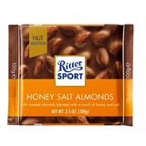 Ritter Milk Chocolate with Honey Salted Almonds 3.5 oz.-SPECIAL PRICE