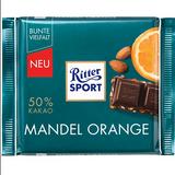 Ritter Dark Chocolate with Almond and Orange 3.5 oz.