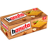 Ferrero Hanuta Hazelnut Cream Wafer Snacks 10 ct pack 7.8 oz.