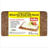 Delba Muesli Whole Grain Rye Bread 16.5 oz