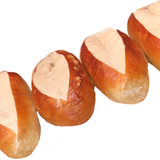 The Taste of Germany Pretzel Rolls for Sausages, oval, 5 oz, 10 pc. handmade, frozen