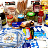 The Taste of Germany Oktoberfest Party Box for 12, with bratwurst and other sausages, perishable 34 lbs.