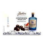 Butlers Irish Drumshanbo Gun Powder Gin Milk Chocolate Truffles Box, 4.4 oz/cs 12