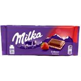 Milka Strawberry Yogurt Filled Chocolate Bar 3.5 oz.
