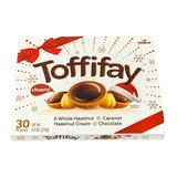 Toffifay Whole Hazelnut Caramel Bites in Holiday Gift Pack, 30pc, 8.8 oz