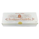 Kreutzkamm Dresden Raisin Christ Stollen in luxury white gift tin, 35.3 oz (1000g)