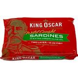 King Oscar Norwegian Sardines in Virgin Olve Oil, Two Layers, in tin, 3.75 oz