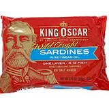 King Oscar Norwegian Sardines in Soybean Oil, in tin, 3.0 oz