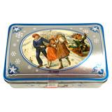 Haeberlein Metzger Elisen Gingerbread Rounds in Nostalgic Silver Gift Tin Case, 5.3 oz