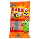 Haribo Sour Streamers Gummy Candy Strips - 4.3 oz.