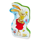 Heidel  Easter Bunny Greeting Tin with Creme Filled Chocolate, 3.8 oz