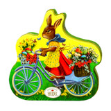 Heidel  Easter Bunny on Bike Nostalgia Tin with Creme-Filled Chocolate, 3.8 oz