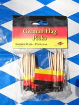 """German Flag Food Picks 2.5"""" in. (Bag of 50)"""