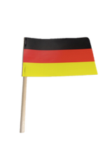 """German Paper Flag (4 x 6 Imprinted) on 8"""" wooden pole"""