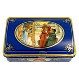 Haeberlein Metzger Elisen Gingerbread Rounds in Nostalgic Blue Gift Tin Case, 5.3 oz