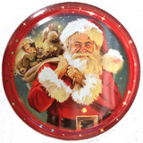 Jacobsens Butter Cookies in Red Classic Santa Holiday Cookie Tin