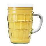 Kuehne Medium Hot  Mustard in Glass Stein Jar 8.7 oz