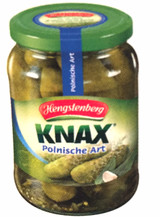 Hengstenberg Knax Crunchy Gherkins Polish Style in Jar