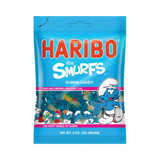 Haribo Smurf Sour Gummies in Bag