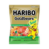 Haribo Sour Gold Bear Gummies in Bag