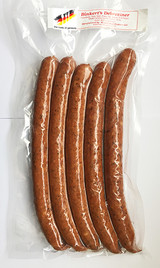 The Taste of Germany Debreziner Smoked Pork and Beef Sausages with Garlic and Red Pepper Pre-Cooked 1lbs.