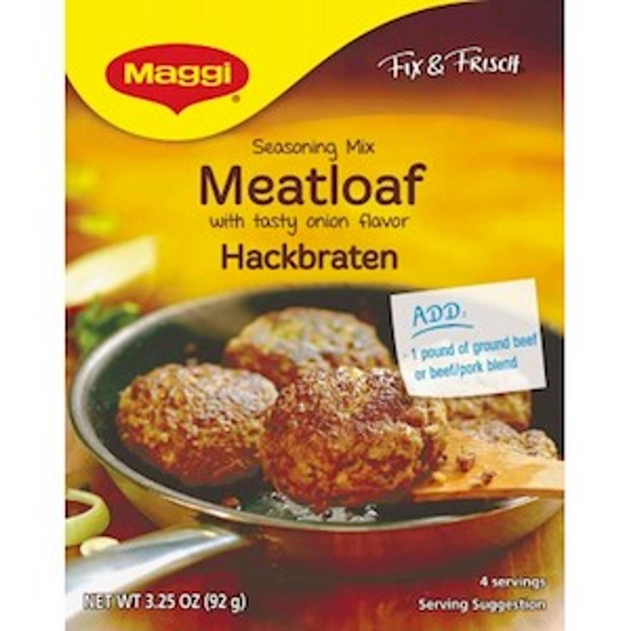 Maggi German Hackbraten Meat Loaf Mix 325 Oz The Taste Of Germany