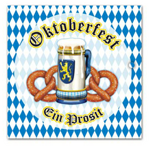 Oktoberfest Beer and Pretzel Dinner Napkins 2ply (16/pkg)