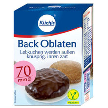 Kuechle Oblaten Round Baking Wafers 70mm 2.6 oz