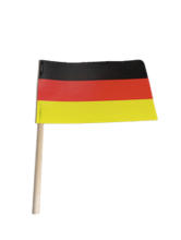"German Paper Flag (4 x 6 Imprinted) on 8"" wooden pole"