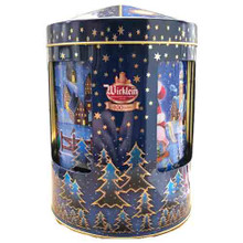 Wicklein Musical Box Round Tin with Assorted Elisen Gingerbreads 6 ct.