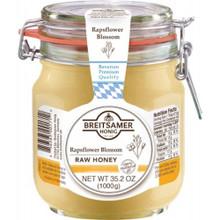 Breitsamer Creamy Rapsflower Honey in Large Jar 35.2 oz