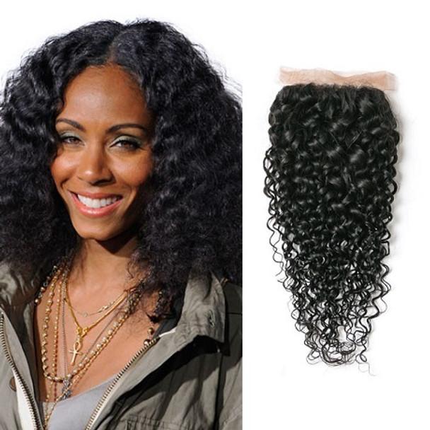 Kinky Curly Virgin Brazilian Lace Closure