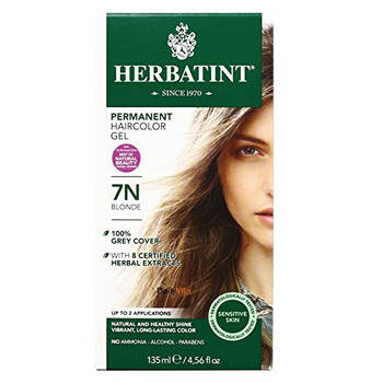 Herbatint Permanent Herbal Blonde 7N, Hair Color Gel Kit (3 pack)