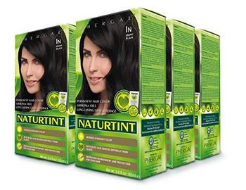 Naturtint Permanent Hair Color, 1N Ebony Black - 5.6 fl oz (6 pack)