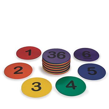 """S&S Worldwide W10613 Spectrum 5"""" Numbered Spot Markers, (Pack of 36)"""