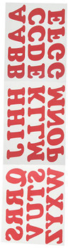 COLORSTAR CS-1007-4000 Iron On Red Oversize Letters 1.25In